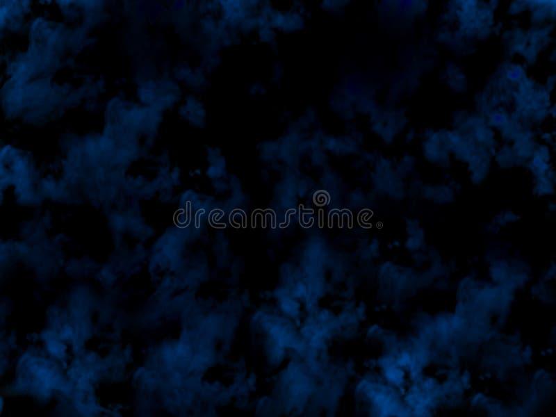 Empañe o fume el efecto especial aislado fondo azul de la nubosidad, de la niebla o de la niebla con humo foto de archivo libre de regalías