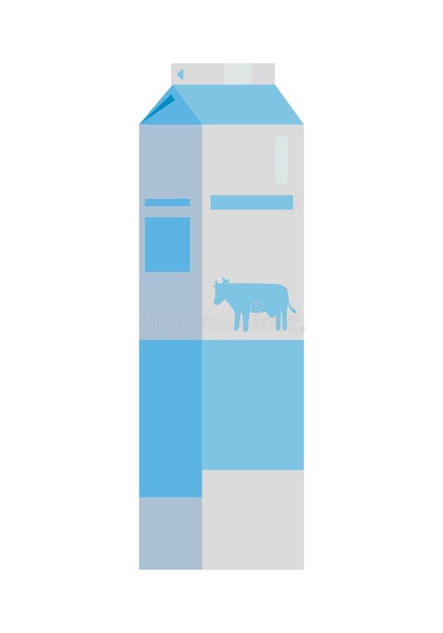 Empacotamento de papel para a ilustração dos produtos de leite ilustração stock