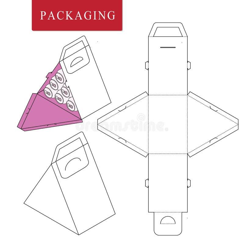 Empacotamento para a garrafa da lata Zombaria varejo branca isolada acima Ilustra??o do vetor da caixa ilustração do vetor