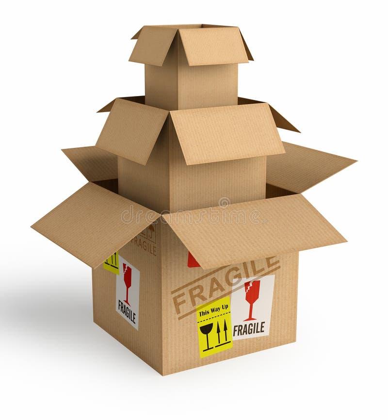 Empacotamento seguro ilustração stock