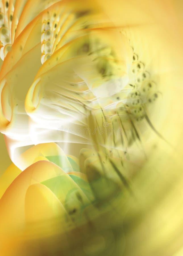 Empalideça - a distorção amarela fotografia de stock royalty free