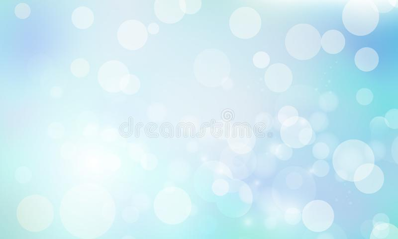 Empalideça - o fundo azul do bokeh ilustração do vetor