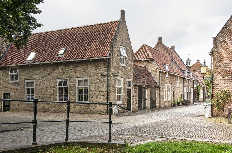 Empalme de calle en la ciudad vieja de Heusden fotografía de archivo libre de regalías