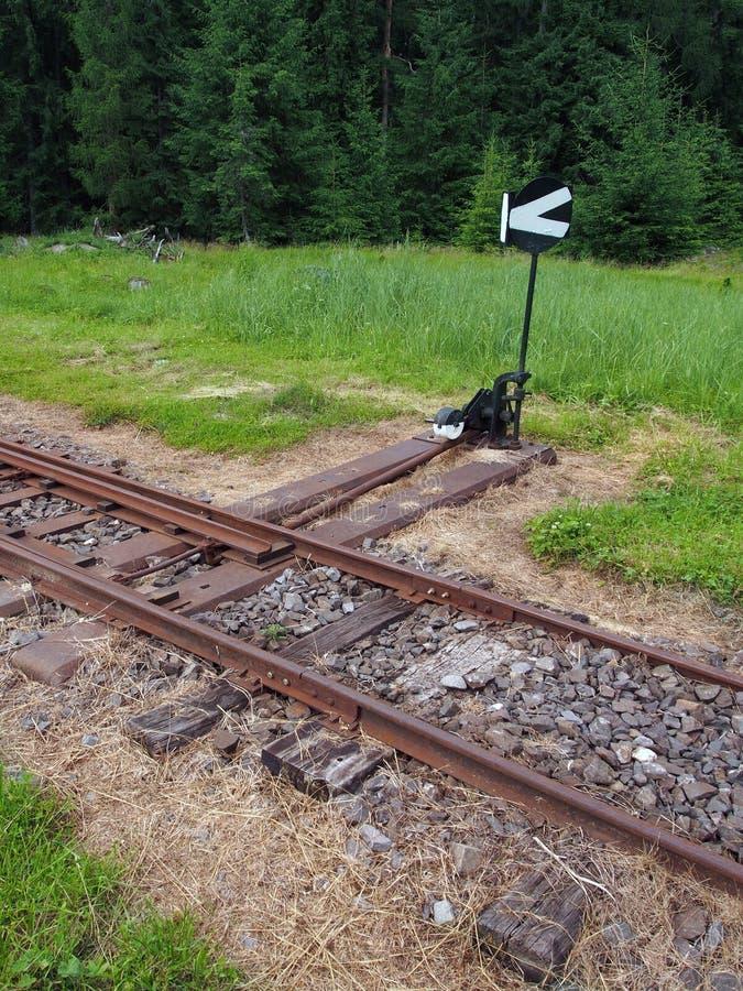 Empalme ferroviario de la señal imagen de archivo libre de regalías