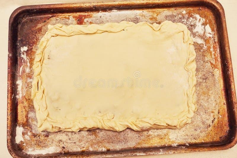 Empanada cruda fotos de archivo