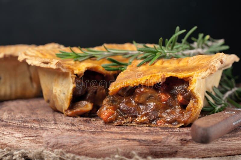 Empanada de carne australiana fresca imagen de archivo