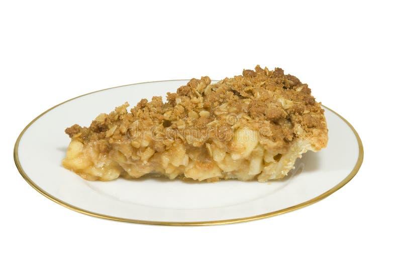 Empanada de la migaja de la manzana deliciosa fotografía de archivo