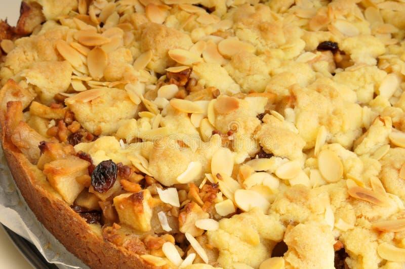 Empanada de manzana cocida al horno con la migaja fotografía de archivo libre de regalías