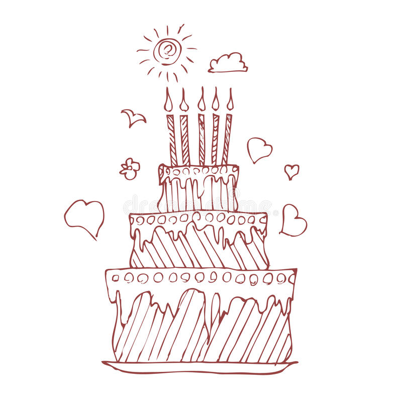 Empanada del cumpleaños ilustración del vector