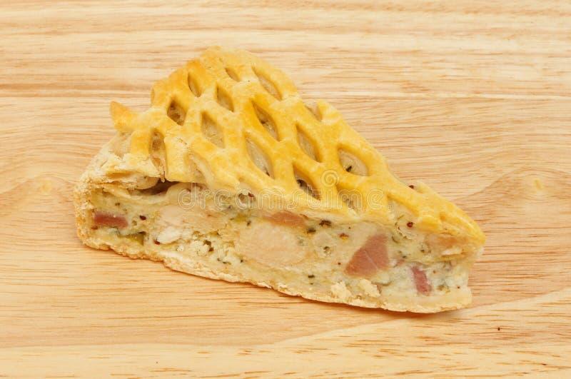 Empanada del pollo y del jamón imagenes de archivo