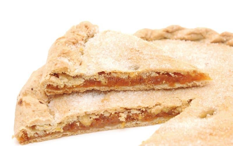 Empanada dulce de los albaricoques foto de archivo