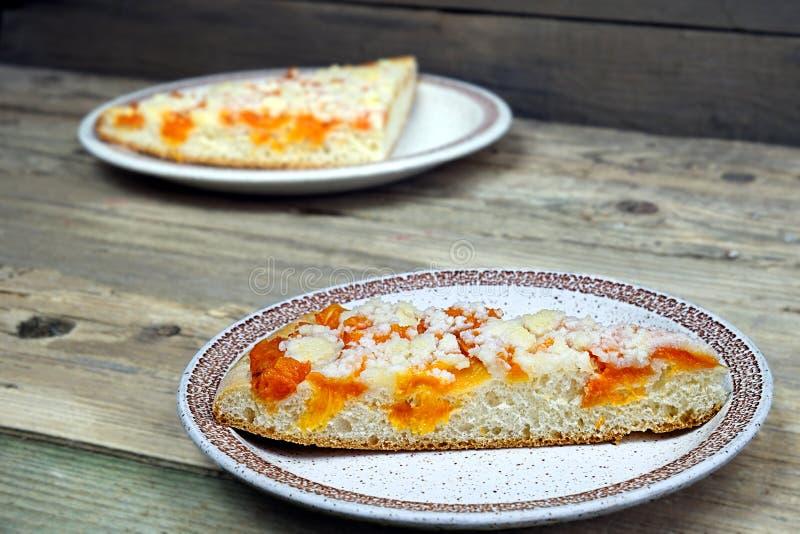 Empanada hecha en casa del albaricoque fotografía de archivo libre de regalías
