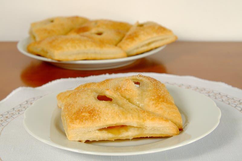 Empanada hecha en casa del albaricoque imagen de archivo libre de regalías