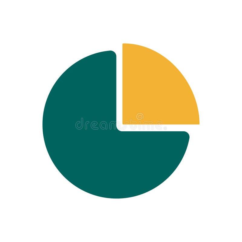 Empanada plana de la carta del icono stock de ilustración