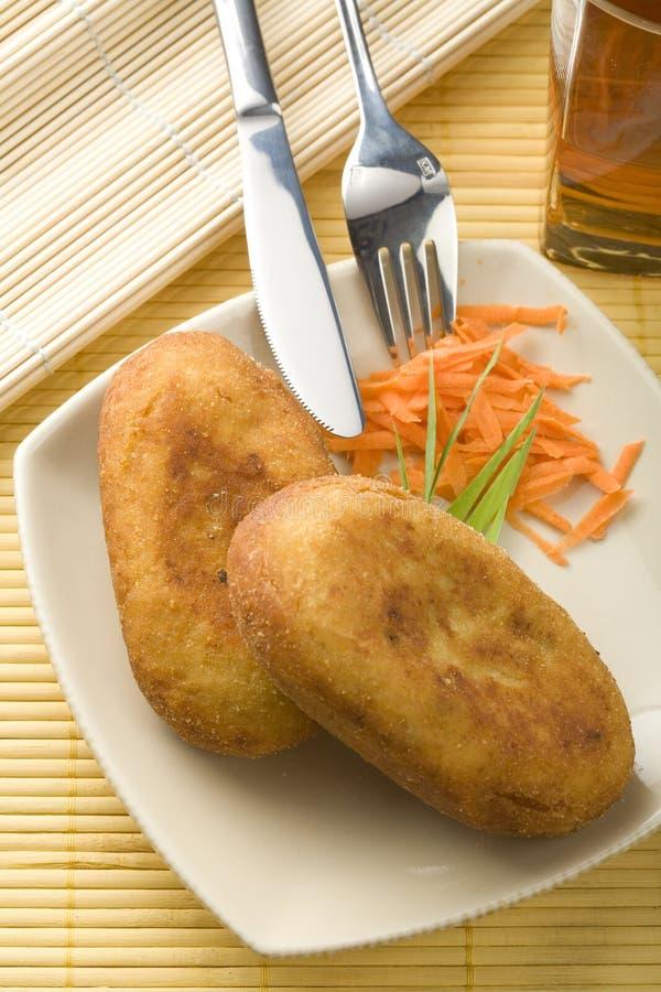 Empanada rellena fotografía de archivo