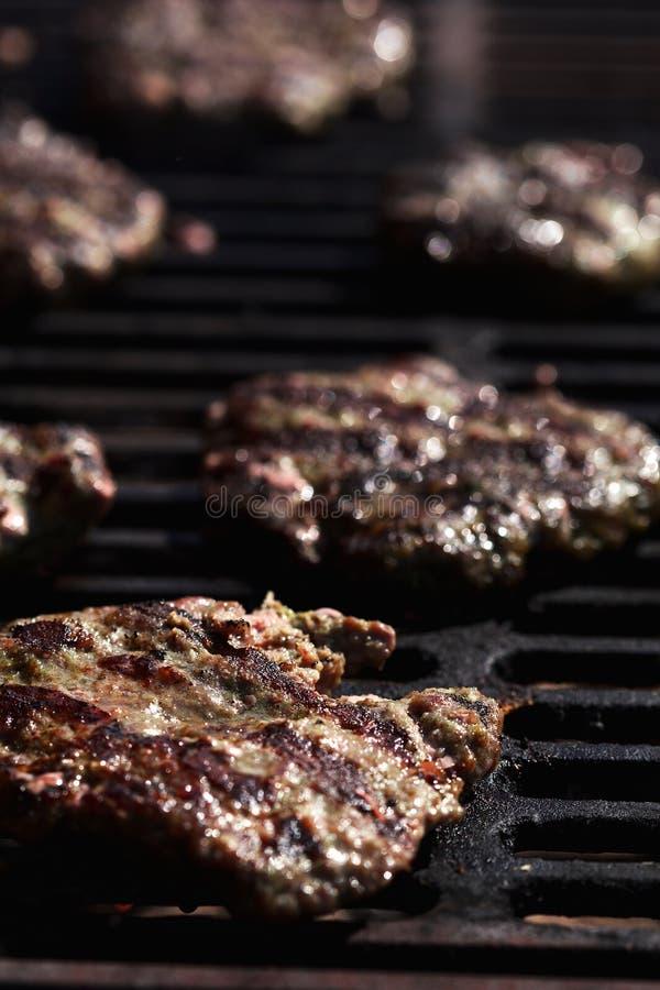 Empanadas de carne de vaca para las hamburguesas foto de archivo libre de regalías