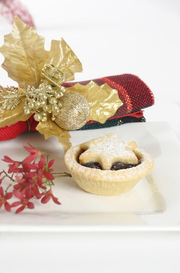 Empanadas de la fruta de la Navidad imagen de archivo