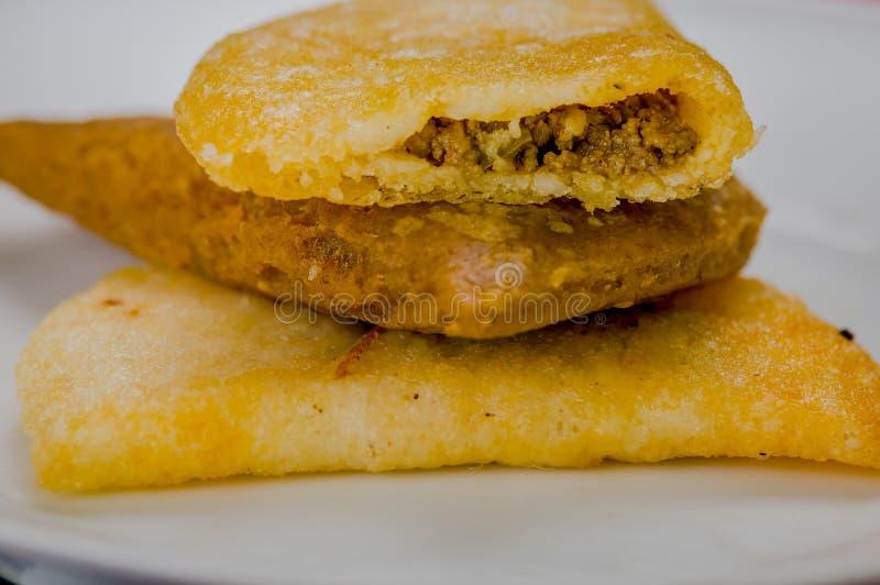 Empanadas deliciosos del primer tres stabled en el top imagen de archivo
