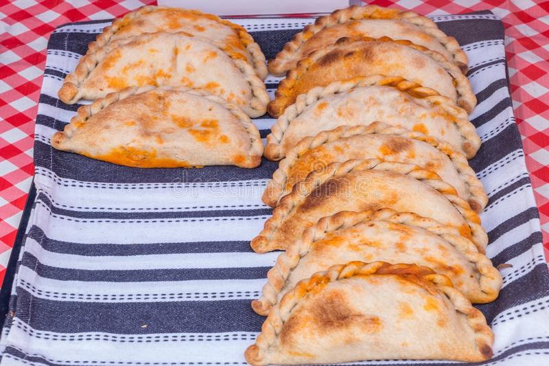 Empanadas - kruidige Chorizo/Kip royalty-vrije stock afbeelding