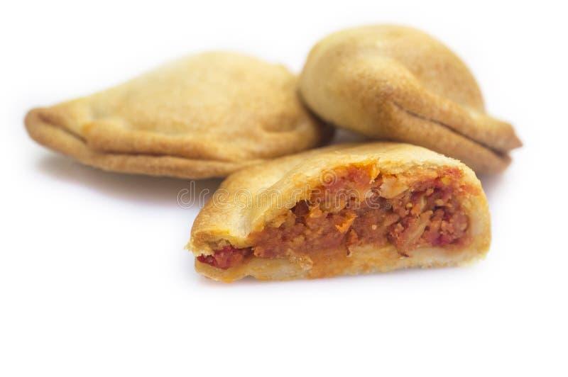 Empanadillas espagnols typiques ou chiffre d'affaires de thon petit images libres de droits