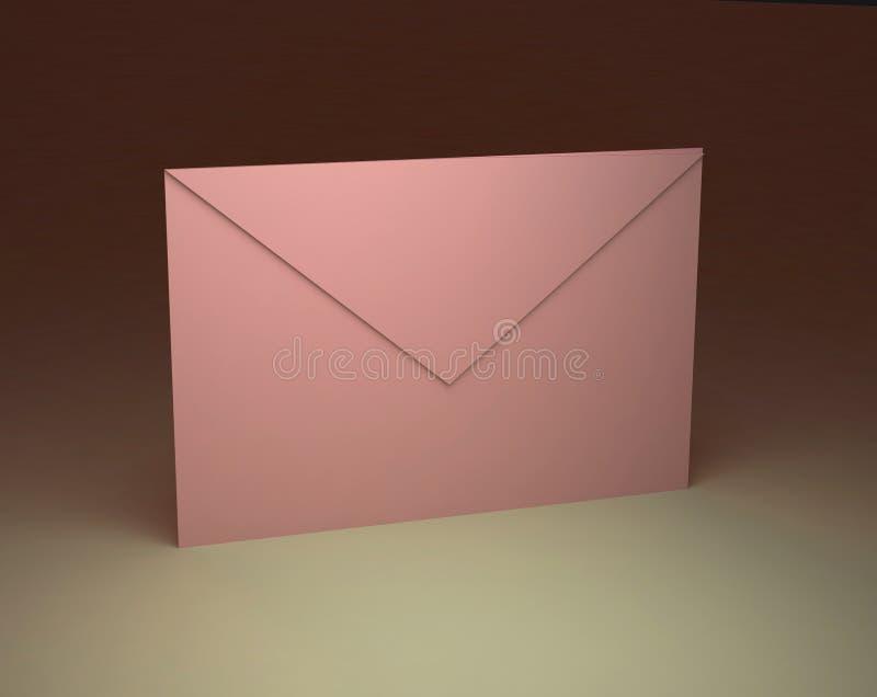 Empapele el sobre rosado stock de ilustración