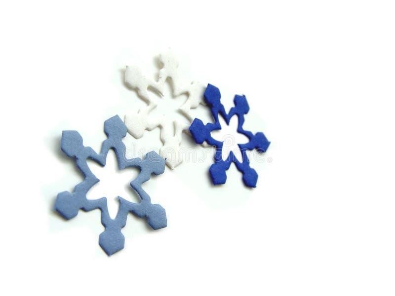Empapele Los Copos De Nieve Foto de archivo libre de regalías