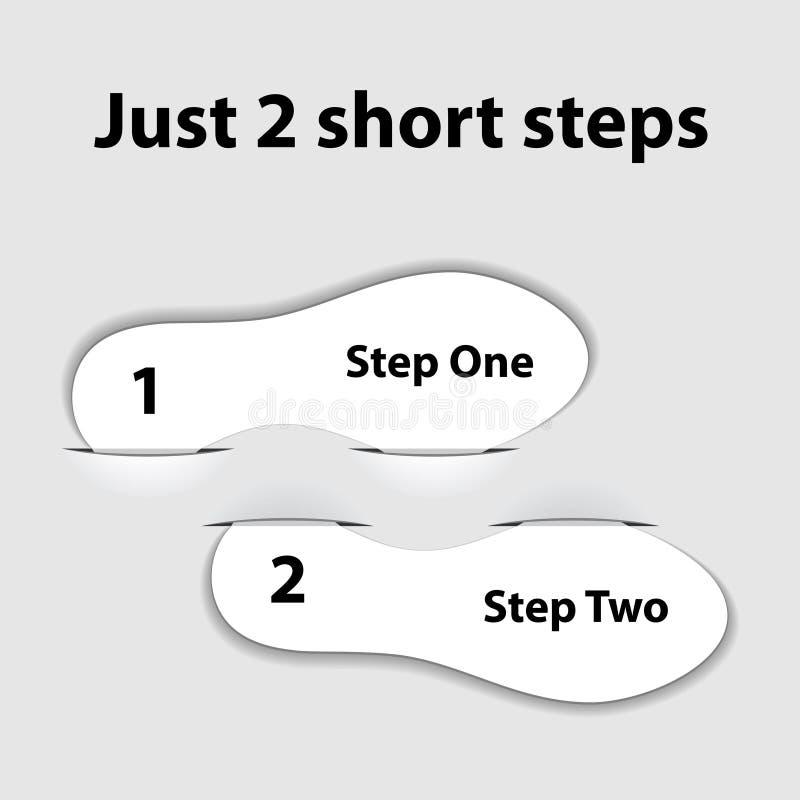 Empapele los pasos de progresión cortos de la impresión ilustración del vector