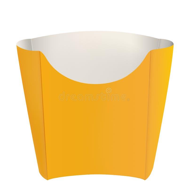 Empaquetado amarillo vacío para las patatas fritas imágenes de archivo libres de regalías