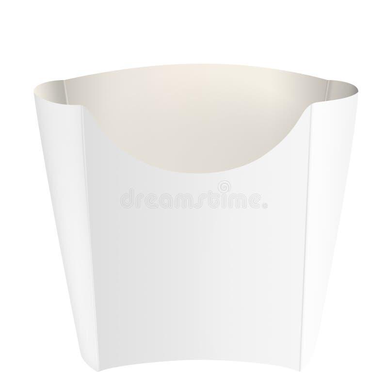 Empaquetado blanco vacío para las patatas fritas imagen de archivo