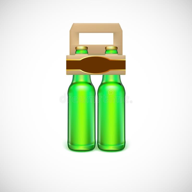 Empaquetado de la cerveza stock de ilustración