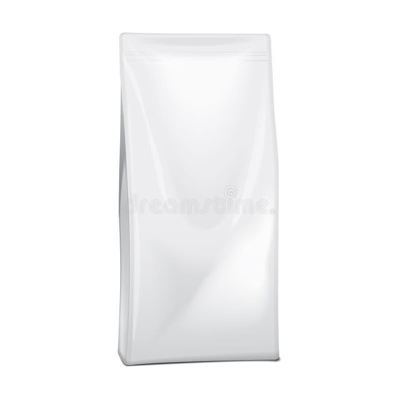 Empaquetado del bolso hoja o de producto químico o de hogar en blanco del papel comida de la bolsa del bocado de la bolsita para  libre illustration
