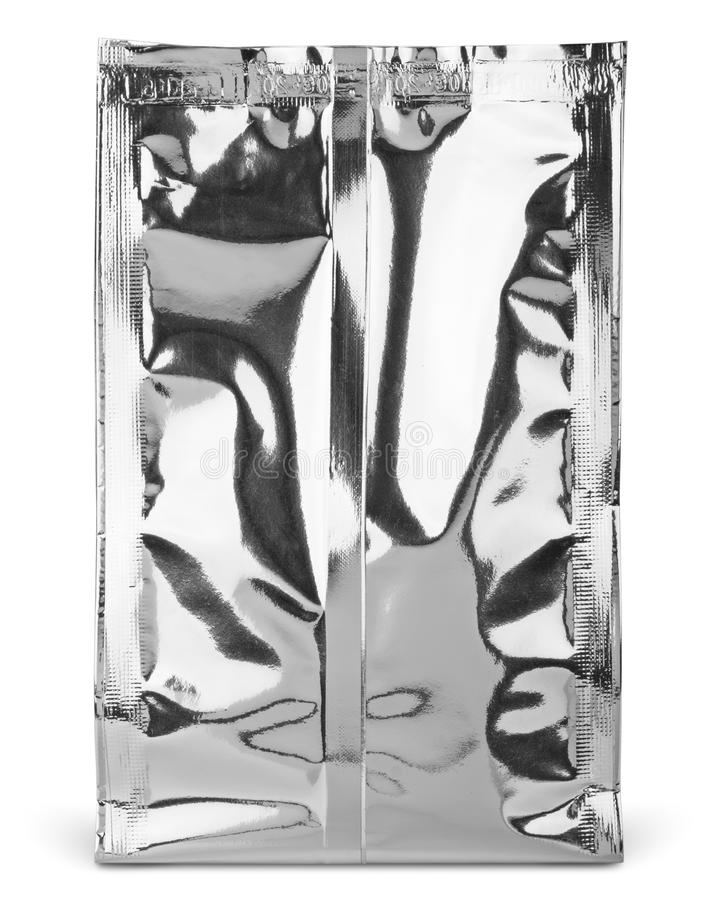 Empaquetado en blanco del bolso de la comida o de la bebida de la hoja fotos de archivo