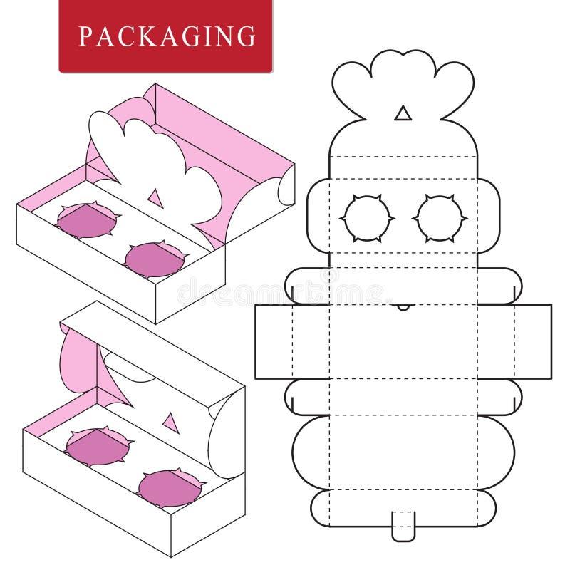 Empaquetado para el producto del cosm?tico o del skincare Paquete para el objeto stock de ilustración