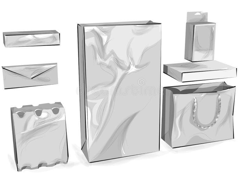 empaquetage illustration de vecteur