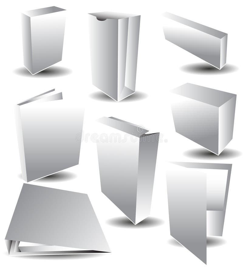 Empaquetage blanc de blanc illustration de vecteur