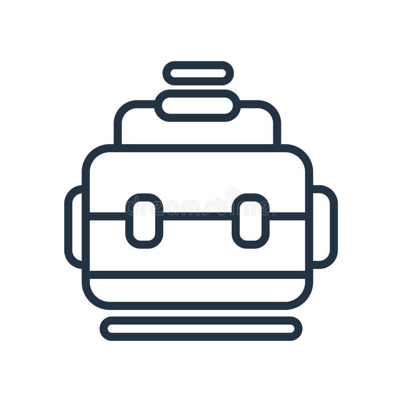 Empaquete el vector del icono aislado en el fondo blanco, muestra del bolso stock de ilustración