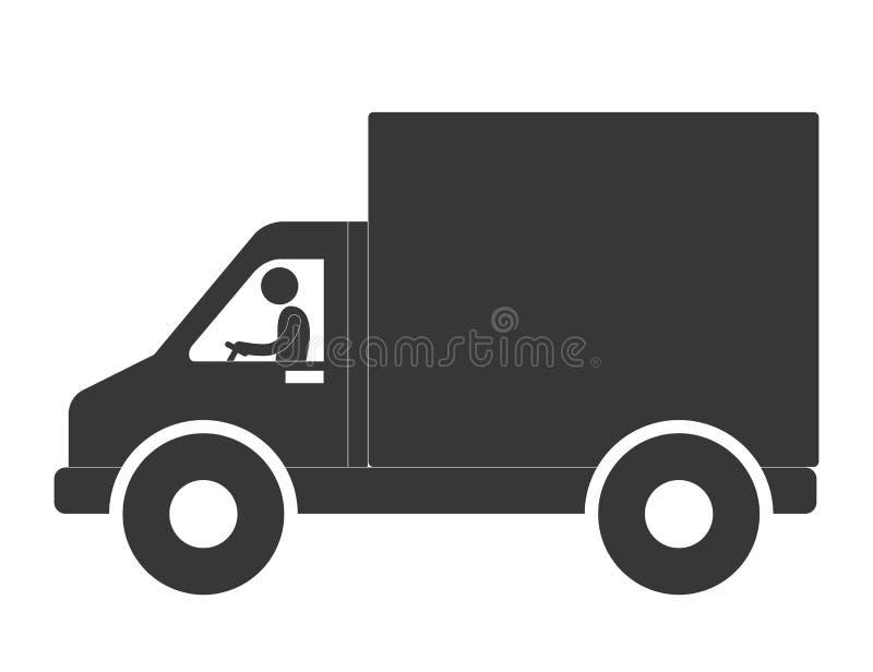 empaquete la entrega y la imagen relacionada logística del icono del pictograma libre illustration