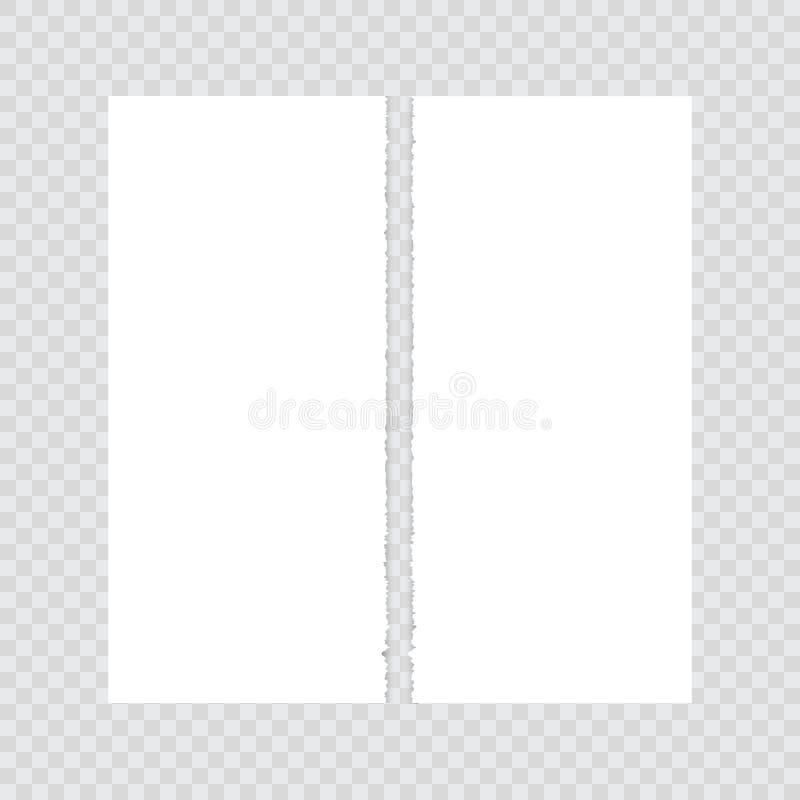 Empaquetez déchiré dans la moitié sur un fond transparent illustration stock