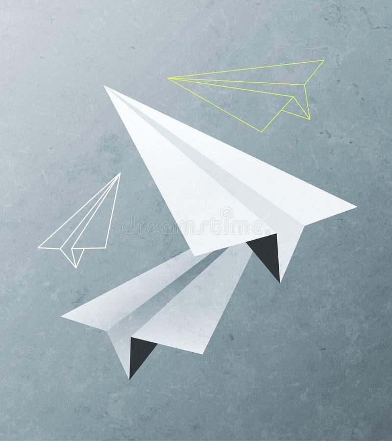Empaquetez les avions illustration de vecteur