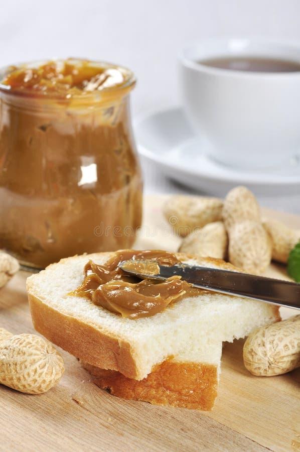 Emparedado de la mantequilla de cacahuete foto de archivo libre de regalías