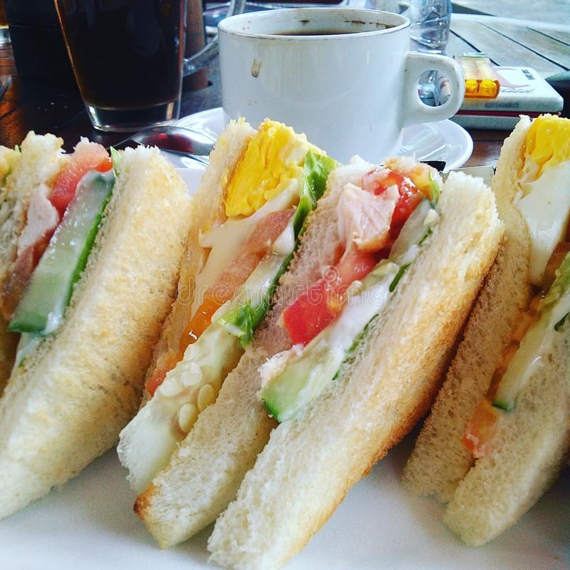 Emparedado para el desayuno foto de archivo libre de regalías