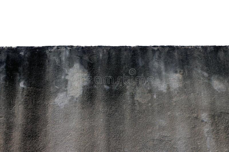 Emparede la textura circundante del muro de cemento pulido gris con los rasguños en el fondo blanco imagen de archivo
