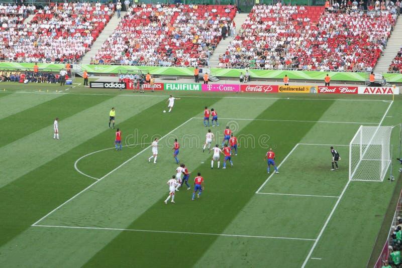 Emparejamiento 2006 de Rica de la Polonia-Costa de la taza de mundo de la FIFA foto de archivo libre de regalías
