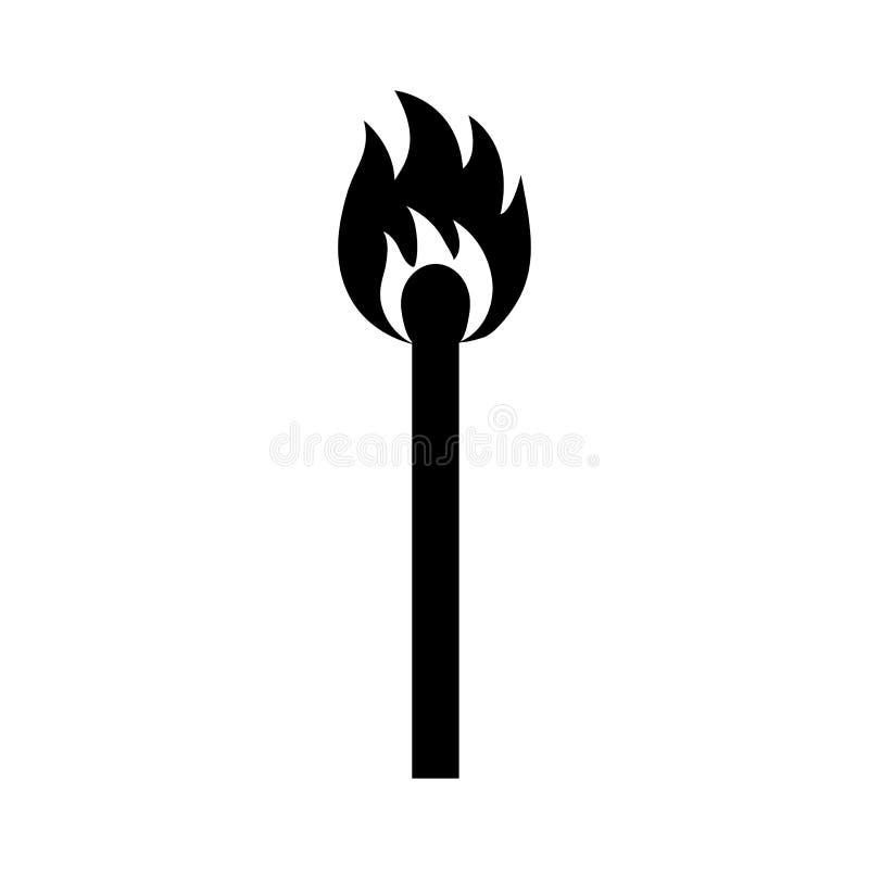 Emparejamiento ardiente Silueta negra Vector stock de ilustración