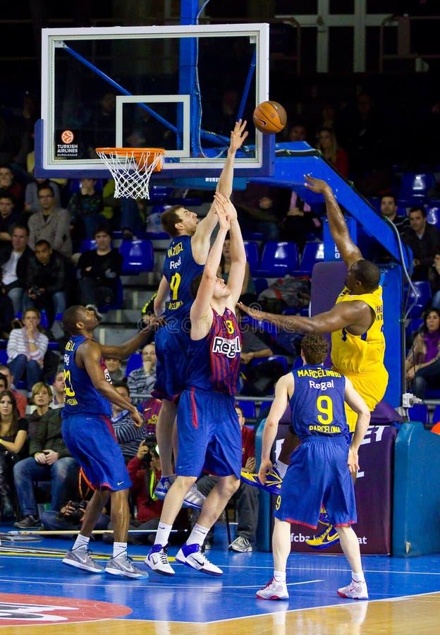 Emparejamiento de baloncesto foto de archivo