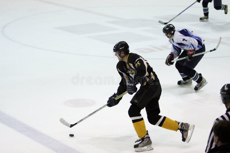 Emparejamiento del hockey sobre hielo imagen de archivo libre de regalías