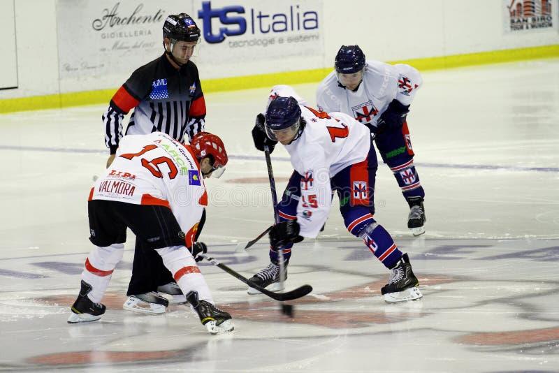 Emparejamiento del hockey sobre hielo foto de archivo libre de regalías