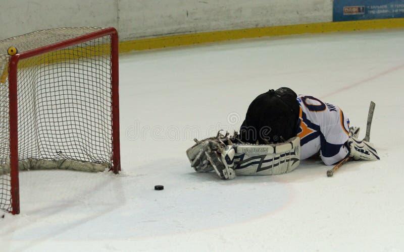 Emparejamiento del hockey sobre hielo de Kharkov- Donbass fotos de archivo