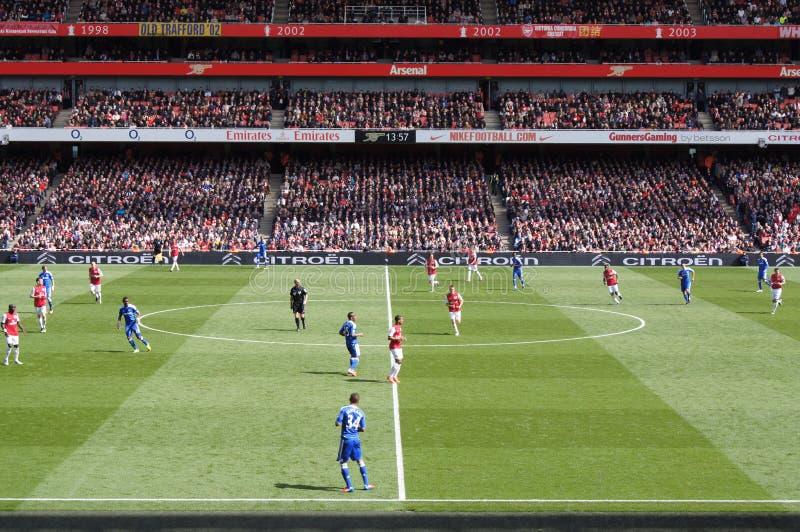 Emparejamiento p del balompié/de fútbol del drenaje del arsenal V Chelsea 0-0 imágenes de archivo libres de regalías