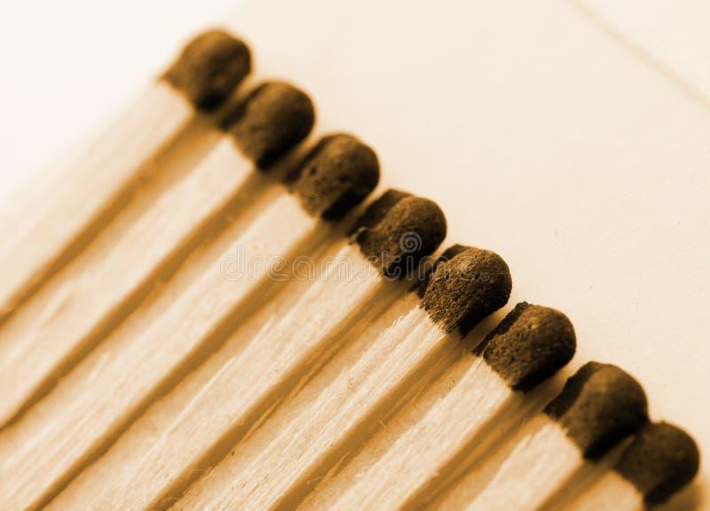 Emparejamientos de madera en matchbook imagen de archivo libre de regalías